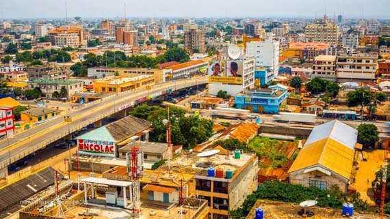 Vista de Cotonou, la principal ciudad de Benin