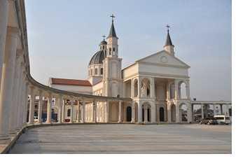La basílica de la Inmaculada Concepción de la Virgen María en Mongomo