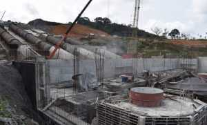El edificio de la estación hidroeléctrica «Sendje».